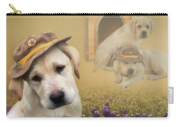 Maverick And Tori - Labrador Art Carry-all Pouch