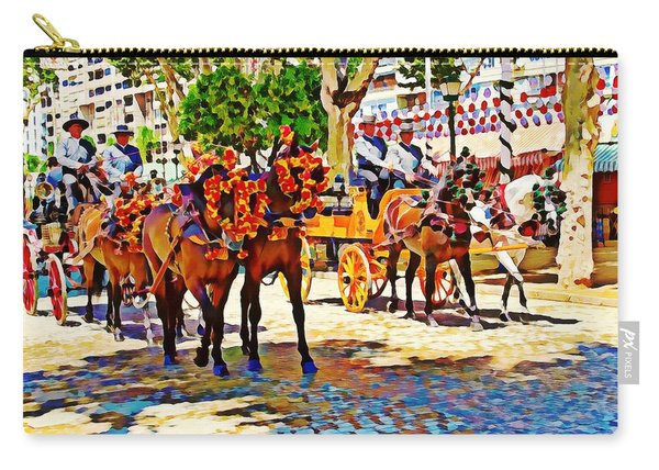 May Day Fair In Sevilla, Spain Carry-all Pouch