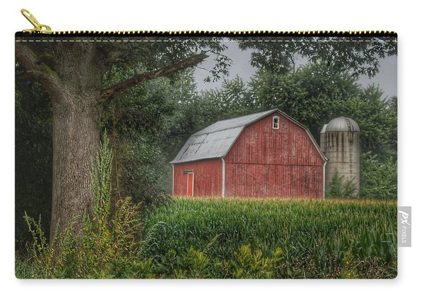 0027 - Mayville's Lapeer Road Red Carry-all Pouch
