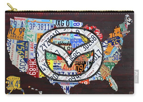 Mazda License Plate Map Of The Usa Carry-all Pouch