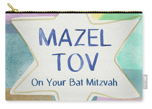 Mazel Tov On Your Bat Mitzvah- Art By Linda Woods Carry-all Pouch