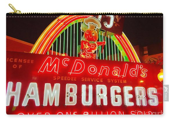 Mcdonald's Historical Neon Carry-all Pouch