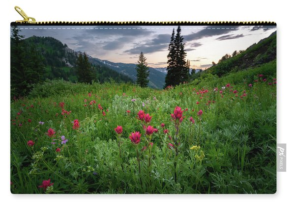 Meadow Of Wildflowers In The Wasatch Carry-all Pouch