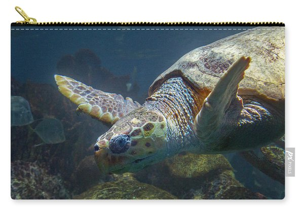 Meandering Green Sea Turtle Carry-all Pouch