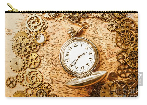 Mechanisms In Industrial Time Carry-all Pouch