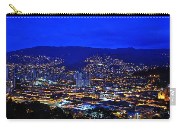 Medellin Colombia At Night Carry-all Pouch