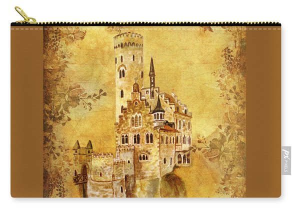 Carry-all Pouch featuring the painting Medieval Golden Castle by Angeles M Pomata