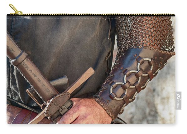 Medieval Knight With Armour And Sword Carry-all Pouch