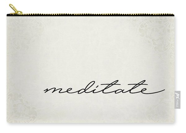 Meditate One Word Series Carry-all Pouch