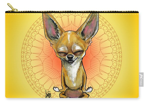 Meditating Chihuahua Carry-all Pouch