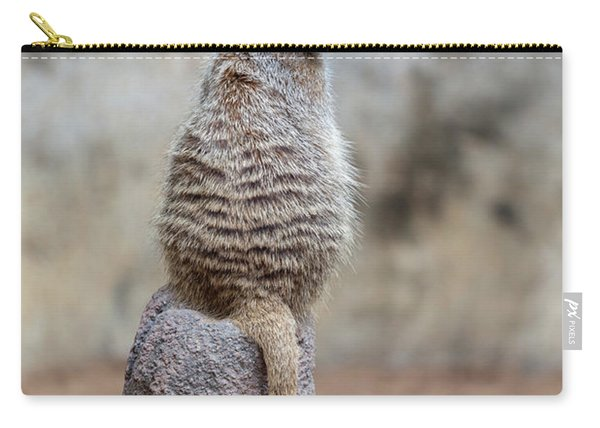 Meerkat Sitting And Looking Right Carry-all Pouch