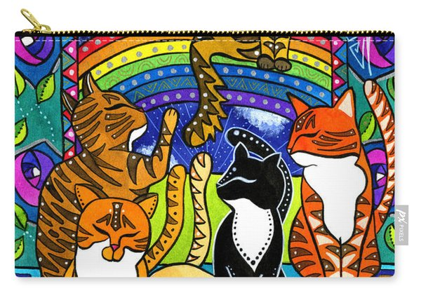 Meet Me At The Rainbow Bridge - Cat Painting Carry-all Pouch