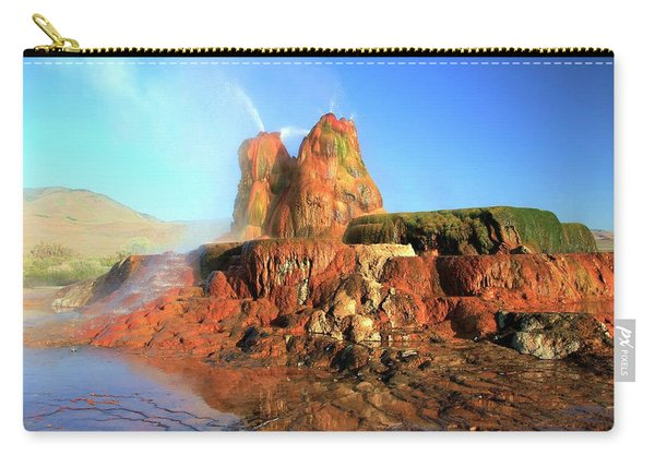 Carry-all Pouch featuring the photograph Meet The Fly Geyser by Sean Sarsfield