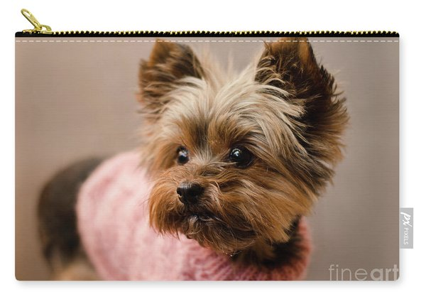 Melanie In Pink Mohair  Carry-all Pouch