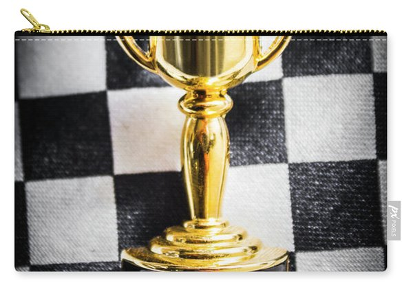 Melbourne Cup Pin On Mens Chequered Fashion Tie Carry-all Pouch