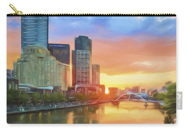 Melbourne River Sunset    Go3 Carry-all Pouch