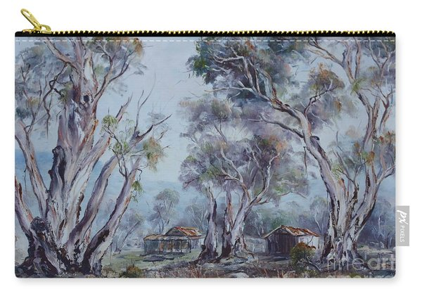 Carry-all Pouch featuring the painting Melrose, South Australia by Ryn Shell