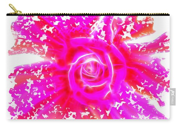 Melting Pink Rose Fractalius Carry-all Pouch