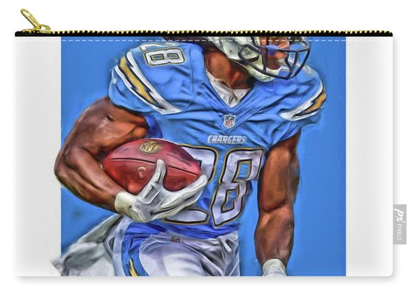 Melvin Gordon San Diego Chargers Oil Art Carry-all Pouch