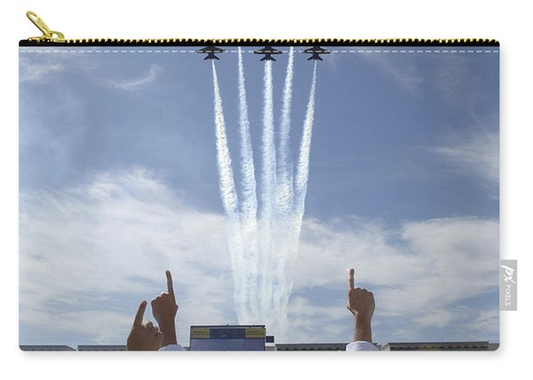Members Of The U.s. Naval Academy Cheer Carry-all Pouch