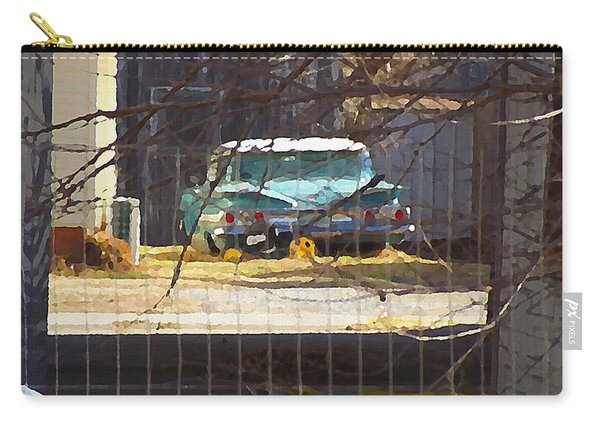 Memories Of Old Blue, A Car In Shantytown.  Carry-all Pouch