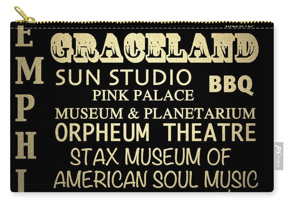 Memphis Tennessee Famous Landmarks Carry-all Pouch