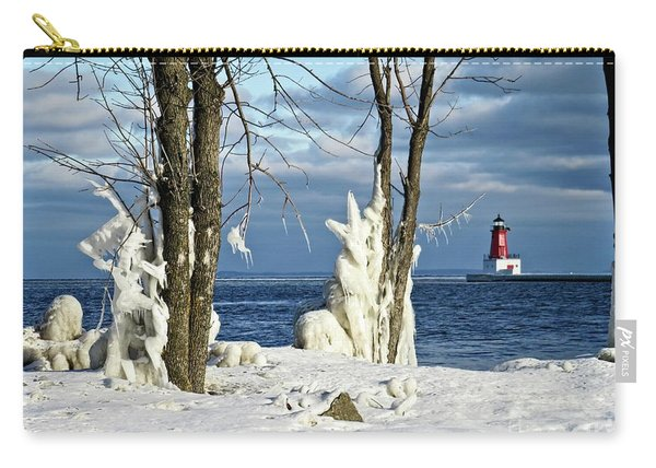 Menominee Lighthouse Ice Sculptures Carry-all Pouch