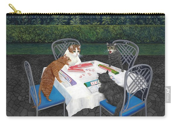 Meowjongg - Cats Playing Mahjongg Carry-all Pouch