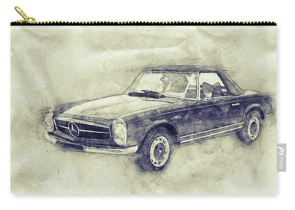 Mercedes-benz 280sl Roadster - 1967 - Automotive Art - Car Posters Carry-all Pouch