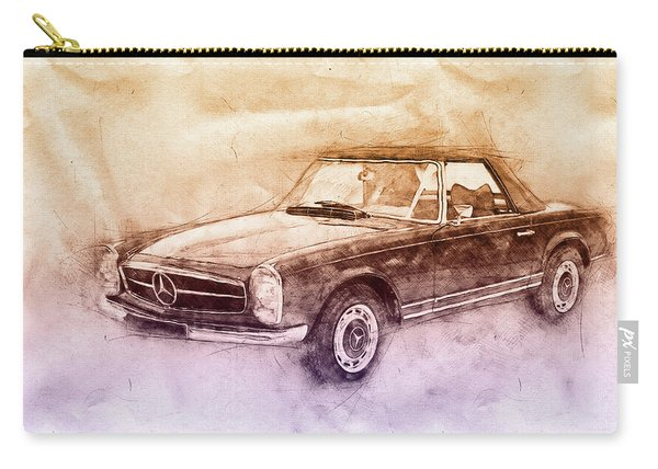 Mercedes-benz 280sl Roadster 2 - 1967 - Automotive Art - Car Posters Carry-all Pouch
