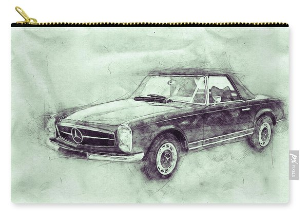 Mercedes-benz 280sl Roadster 3 - 1967 - Automotive Art - Car Posters Carry-all Pouch