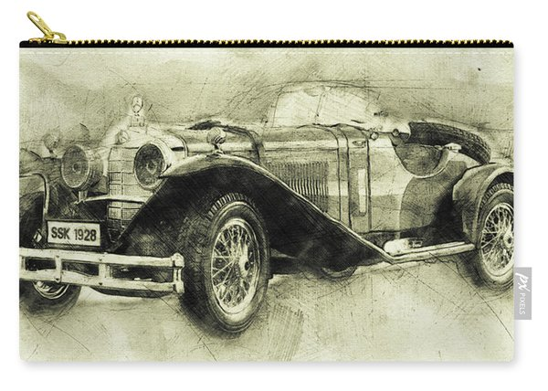 Mercedes-benz Ssk 1 - 1928 - Automotive Art - Car Posters Carry-all Pouch