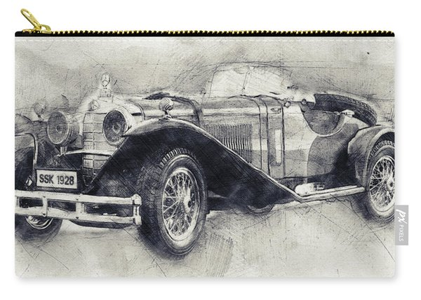 Mercedes-benz Ssk - 1928 - Automotive Art - Car Posters Carry-all Pouch
