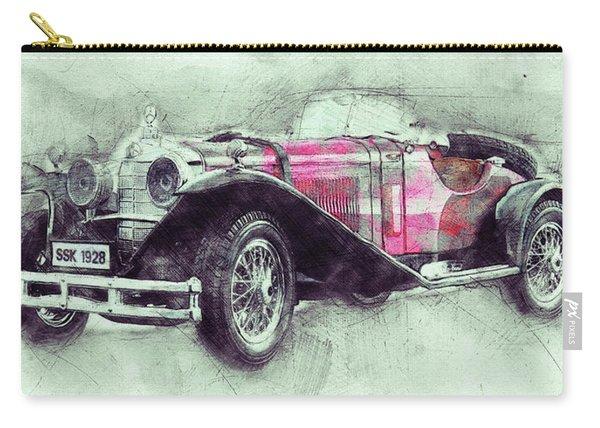 Mercedes-benz Ssk 3 - 1928 - Automotive Art - Car Posters Carry-all Pouch