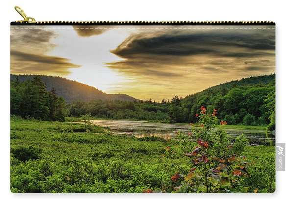 Meredith Pond Sunset Carry-all Pouch