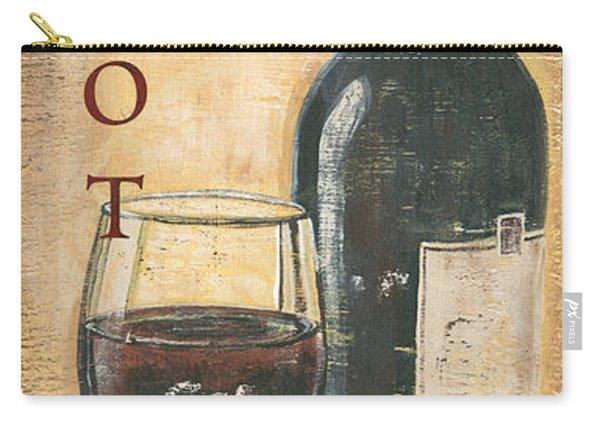 Merlot Wine And Grapes Carry-all Pouch