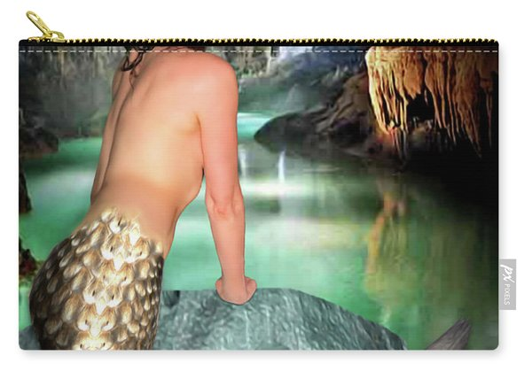 Mermaid In A Cave Carry-all Pouch