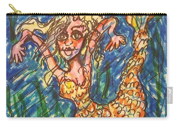 Mermaid Under The Sea Carry-all Pouch