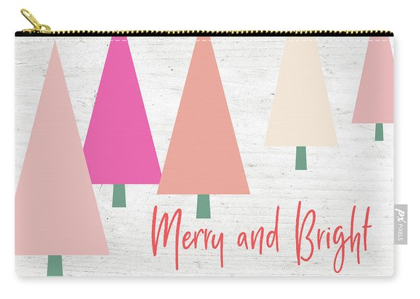 Merry And Bright Trees- Art By Linda Woods Carry-all Pouch