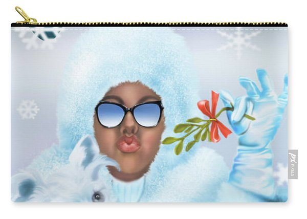 Merry Christmas And Kisses Carry-all Pouch