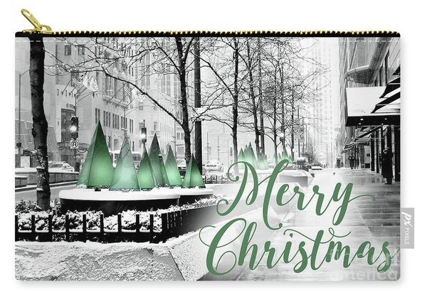 Merry Christmas Chicago Carry-all Pouch