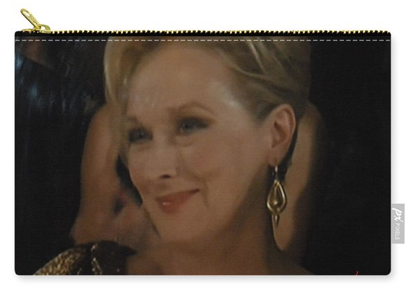 Meryl Streep Receiving The Oscar As Margaret Thatcher  Carry-all Pouch