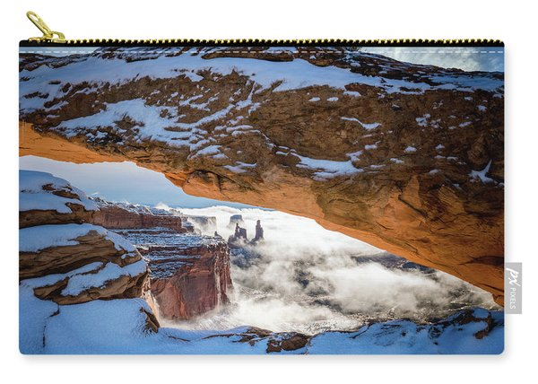 Mesa Arch In The Snow Carry-all Pouch