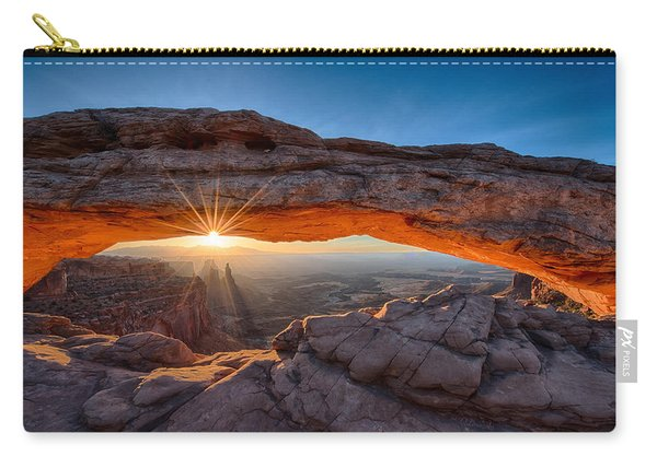 View Through The Mesa Arch At  Sunrise Carry-all Pouch