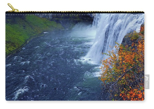 Mesa Falls In The Fall Carry-all Pouch