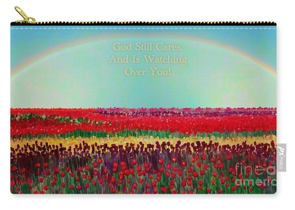 Message From The Other Side With A Bit Of Christmas Color Cheer Carry-all Pouch