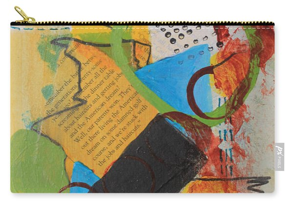 Messy Circles Of Life Carry-all Pouch