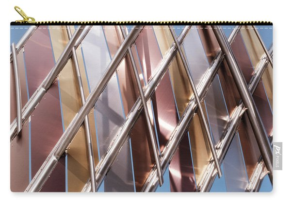 Metal Abstract With Lines And Angles In Lansing Michigan Carry-all Pouch
