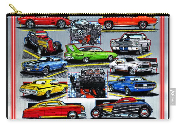 Metal Hot Rods Forever Carry-all Pouch