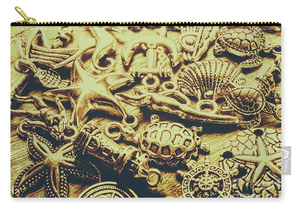 Metallic Marine Scene Carry-all Pouch